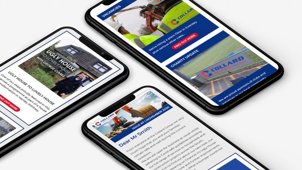 Handmade design fully responsive e-newsletters